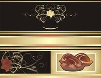 Fond abstrait pour l'emballage. Candie de chocolat Photographie stock libre de droits