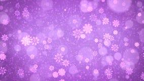 Fond abstrait pourpre de flocons de neige de Noël illustration libre de droits