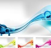 Fond abstrait - quatre couleurs Image libre de droits