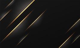 Fond abstrait rayé d'or avec l'effet de la lumière illustration libre de droits