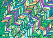 Fond abstrait rayé de bande dessinée de vague pour des adultes Art de griffonnage Image libre de droits
