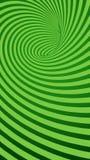 Fond abstrait rayé de tunnel de spirale verte Image stock