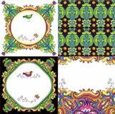 Fond abstrait réglé (séries florales) Images stock