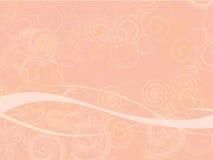 Fond abstrait rose de Swirly Photo libre de droits