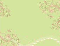 Fond abstrait rose vert illustration stock