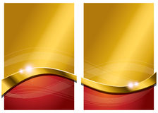 Fond abstrait rouge d'or Photographie stock