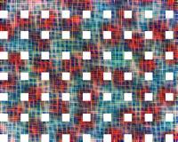 Fond abstrait rouge et bleu intense avec les places blanches illustration stock