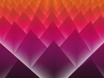 Fond abstrait rougeoyant des pyramides 3d Images stock