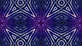 Fond abstrait sans couture bleu avec des particules L'espace virtuel avec la profondeur du champ, des étincelles de lueur et des  clips vidéos
