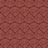 Fond abstrait sans couture de vecteur de feuilles d'automne Modèle élégant floral Vecteur répétant les feuilles stylisées de text illustration de vecteur