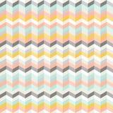 Fond abstrait sans couture fait à partir des bandes colorées avec l'illusion du volume Images libres de droits