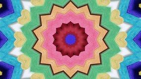Fond abstrait sans couture illustré de fleur et de coeur Photos libres de droits