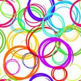 Fond abstrait sans couture transparent coloré de cercle illustration de vecteur