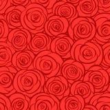 Fond abstrait sans joint de roses rouges Photo libre de droits