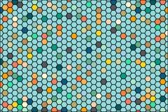 Fond abstrait se composant de l'ensemble de cellules hexagonales Graphiques de vecteur colorés pour la présentation de bannière d illustration stock
