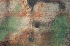 Fond abstrait sensible : les taches de couleur verte, orange et beige décalent graduellement dans l'un l'autre, surface métalliqu Photo stock