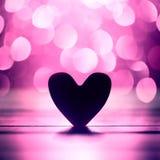 Fond abstrait simple de bokeh de coeur et de rose images stock