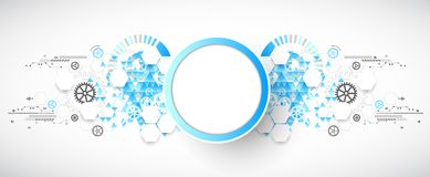 fond abstrait technologique Image stock