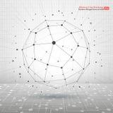 Fond abstrait technologique avec les points et les lignes se reliants illustration de vecteur