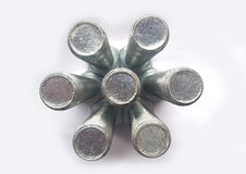 Fond abstrait technologique en métal Photo libre de droits