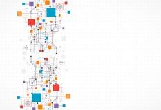 Fond abstrait, thème de technologie pour vos affaires Images stock