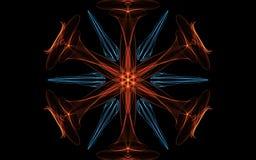 Fond abstrait, tourbillonnement lumineux Cercle rougeoyant ?l?gant Anneau l?ger Susciter la particule Fond d'imagination illustration libre de droits