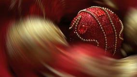 Fond abstrait tournant de Noël banque de vidéos