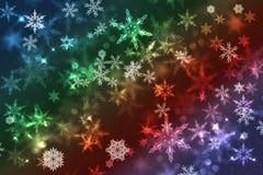 Fond abstrait trouble d'illustration de Noël de flocon de neige Photographie stock libre de droits