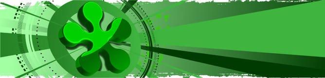 Fond abstrait vert 3D Images stock