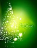 Fond abstrait vert de Noël avec le blanc Photos libres de droits