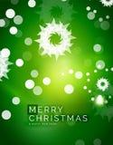 Fond abstrait vert de Noël avec le blanc Images stock