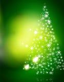 Fond abstrait vert de Noël avec le blanc Image libre de droits
