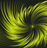 Fond abstrait vert-foncé tournoyé fait de tubes brillants verts de courbe Photographie stock