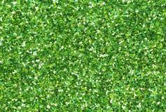 Fond abstrait vert Photo de plan rapproché de scintillement de Noël Photographie stock libre de droits