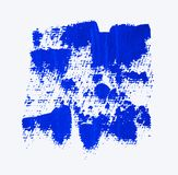 Fond acrylique grunge bleu Image libre de droits