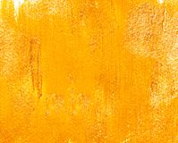 Fond acrylique jaune Images stock