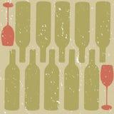 Fond affligé de vin illustration de vecteur