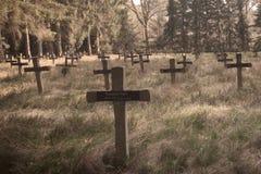 Fond aliéné de cimetière Photo stock