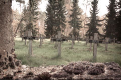 Fond aliéné de cimetière Image stock