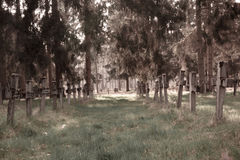 Fond aliéné de cimetière Photographie stock