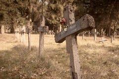 Fond aliéné de cimetière Photographie stock libre de droits