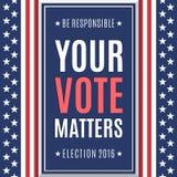 Fond 2016 américain d'élection Photographie stock