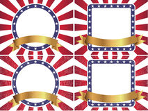 Fond américain de drapeau de rayon de soleil Photos libres de droits