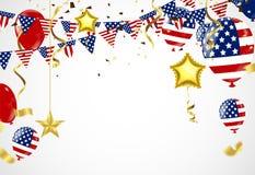 Fond américain du Président Day de voler d'étoiles Confe de vacances Photographie stock libre de droits