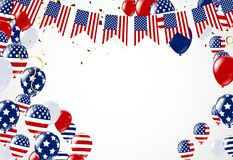 Fond américain du Président Day de voler d'étoiles Confe de vacances Photos libres de droits