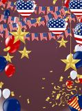 Fond américain du Président Day de voler d'étoiles Confe de vacances Images stock