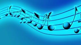 Fond animé avec les notes musicales, notes de musique - BOUCLE illustration libre de droits