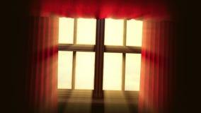 Fond animé de concept avec la fenêtre ouverte illustration stock