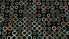 Fond animé de modèle d'hexagone coloré créatif