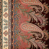 Fond antique d'Indien de Paisley de cru Images stock